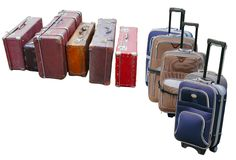 Travelling suitcases Stock Image