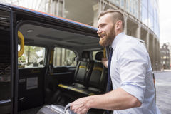 Travelling by taxi Royalty Free Stock Photography