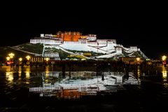 Travelling in Tibet:The majestic potala palace Stock Images