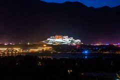 Travelling in Tibet:The majestic potala palace Stock Photos