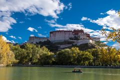 Travelling in Tibet:The majestic potala palace Royalty Free Stock Photo