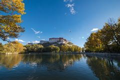 Travelling in Tibet:The majestic potala palace Stock Image