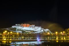 Travelling in Tibet:The majestic potala palace Royalty Free Stock Photography