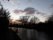 London Canal walks sunset Stock Photo