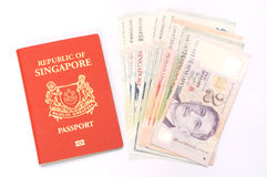 Travelling to Singapore Royalty Free Stock Images