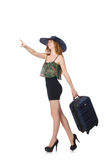 Travelling tourism concept isolated. On white Royalty Free Stock Photography