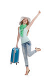 Travelling tourism concept isolated Stock Images