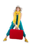 Travelling tourism concept isolated Royalty Free Stock Images