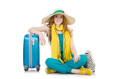 Travelling tourism concept isolated Royalty Free Stock Photo