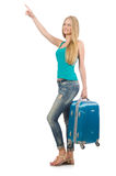 Travelling tourism concept isolated. On white Royalty Free Stock Photo