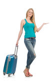 Travelling tourism concept isolated Royalty Free Stock Photos