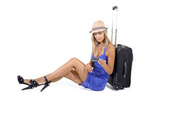 Travelling woman Royalty Free Stock Images