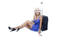 Travelling woman Royalty Free Stock Photos