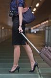 Travelling woman Stock Images