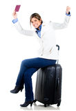 Travelling woman Royalty Free Stock Photo