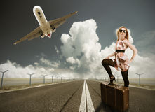Travelling woman Royalty Free Stock Photography
