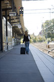 Travelling Woman Stock Photo