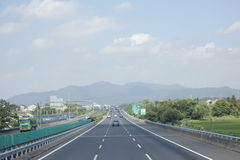 Travelling through Zhejiang and Anhui province by high way Stock Images