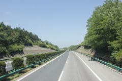 Travelling through Zhejiang and Anhui province by high way Stock Image