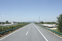 Travelling through Zhejiang and Anhui province by high way Stock Photos