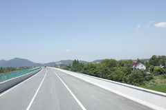 Travelling through Zhejiang and Anhui province by high way Stock Photography