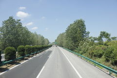 Travelling through Zhejiang and Anhui province by high way Stock Photo