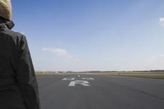 Travelller do horizonte da pista de decolagem Imagens de Stock