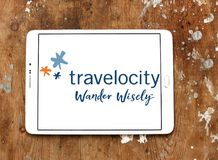Travelocity旅行公司商标 库存图片