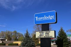 Travelodge Exterior Sign and Logo royalty free stock photo