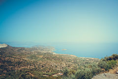 Travels Greece Сrit  boatsea mountains Royalty Free Stock Photography