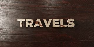 Travels - grungy wooden headline on Maple  - 3D rendered royalty free stock image. This image can be used for an online website banner ad or a print postcard Royalty Free Stock Images
