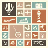 Travels icons. Over white background vector illustration Stock Images