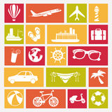 Travels icons Royalty Free Stock Image