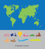 Travels icons. Over white background vector illustration Royalty Free Stock Photos
