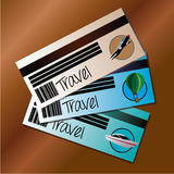 Travels tickets Stock Photography