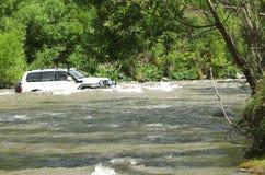 Traversée de la rivière Image libre de droits