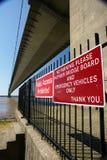 Traversée de la rivière de Kingston Upon Hull de pont de Humber Images libres de droits