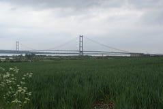 Traversée de la rivière de Kingston Upon Hull de pont de Humber Photos stock