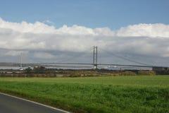 Traversée de la rivière de Kingston Upon Hull de pont de Humber Photo libre de droits