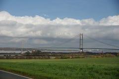 Traversée de la rivière de Kingston Upon Hull de pont de Humber Images stock