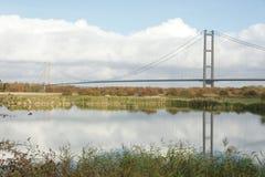 Traversée de la rivière de Kingston Upon Hull de pont de Humber Image libre de droits