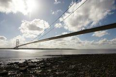 Traversée de la rivière de Kingston Upon Hull de pont de Humber Image stock