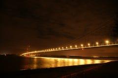 Traversée de la rivière de Kingston Upon Hull de pont de Humber Photographie stock libre de droits