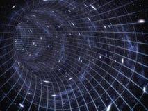 À travers l'univers Déplacement dans l'espace Voyage de temps Photo stock