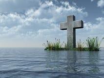 Traversa cristiana illustrazione di stock