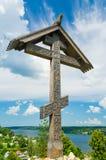 Traversa cristiana di legno Immagini Stock Libere da Diritti