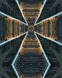 Traversa dei binari ferroviari Fotografie Stock