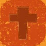 Traversa del cristiano di Grunge illustrazione di stock