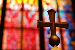 Traversa dell'oro in chiesa Fotografia Stock Libera da Diritti