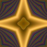 Traversa dorata della stella illustrazione di stock